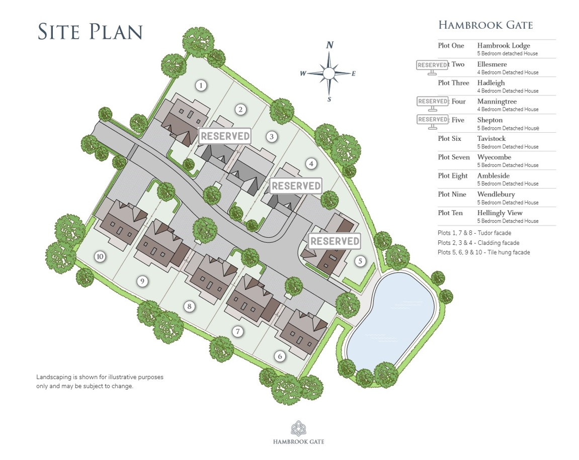 Hambrook Gate - Site Plan with Reserved Plots
